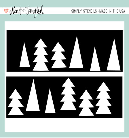 Tree Duo - Simply Stencils