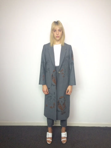 claire barrow long grey coat