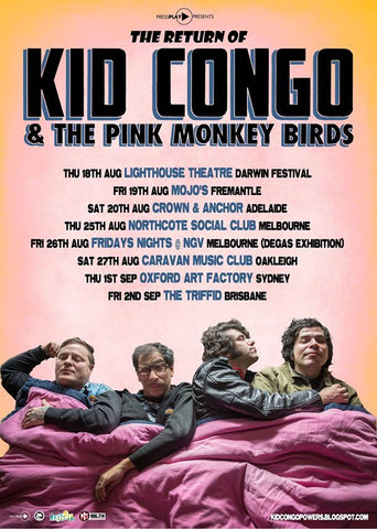 kid congo powers tour poster