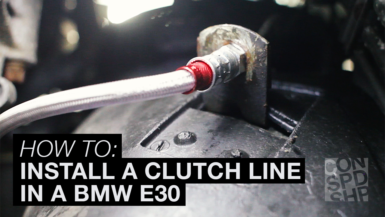 How to install a clutch line in an E30