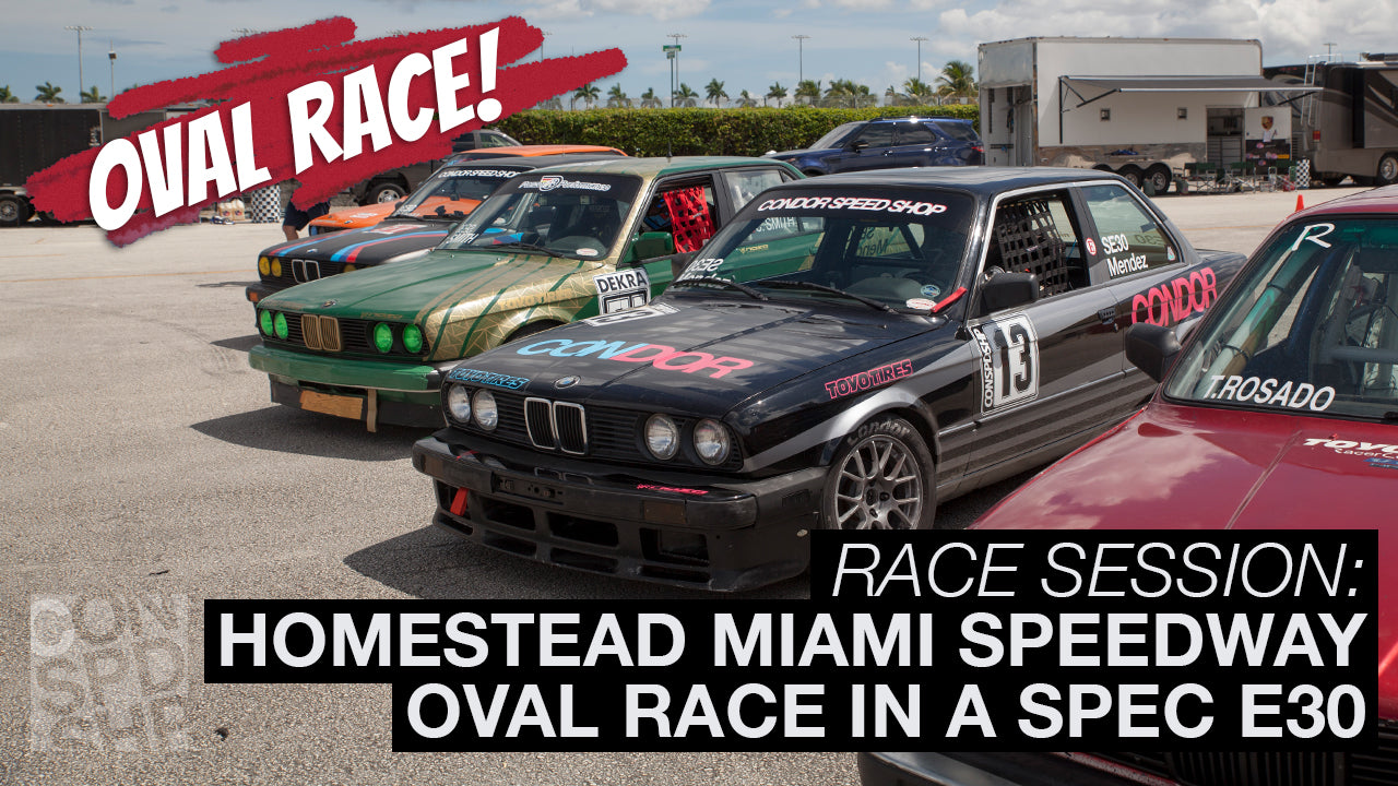 "In-car Footage ""Oval Spec E30 Race"" at Homestead Miami Speedway"