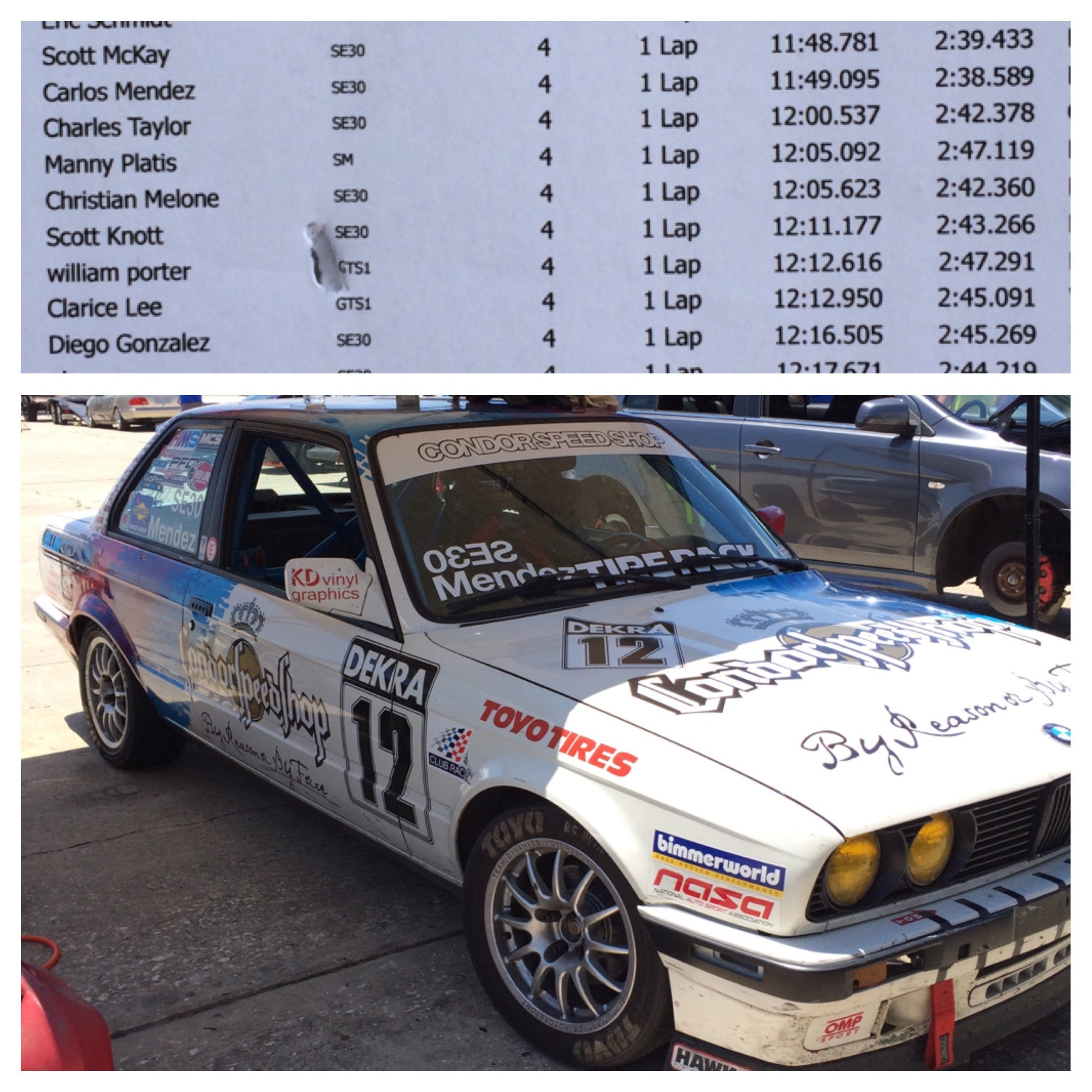 Sebring Track Record in a Spec E30