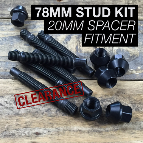 78mm Race Stud Kit - M12×1.5 *CLEARANCE*