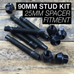 90mm Race Stud Kit - M12×1.5