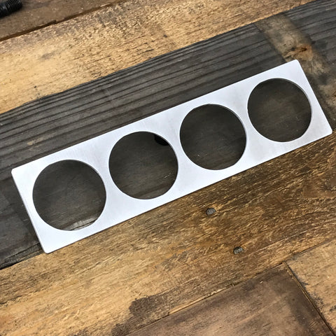 Aluminum Center Vent Gauge Panels - E30