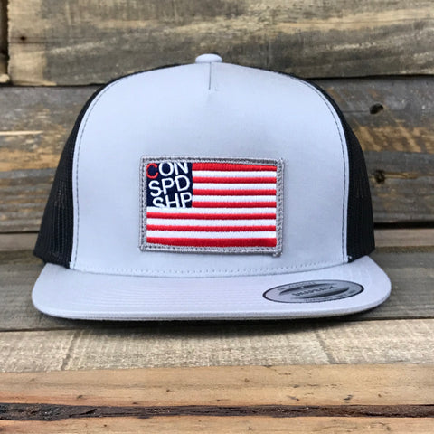 Merica / Light Gray Trucker