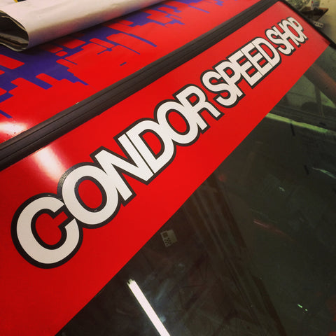 "Condor Speed Shop ""2 tone"" Windshield Banner"
