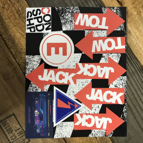 Jack and Tow Point Reflective Sticker Packs