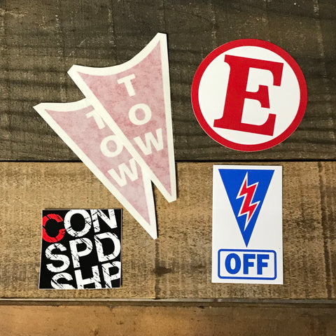 Emergency, OFF & Tow Sticker Packs