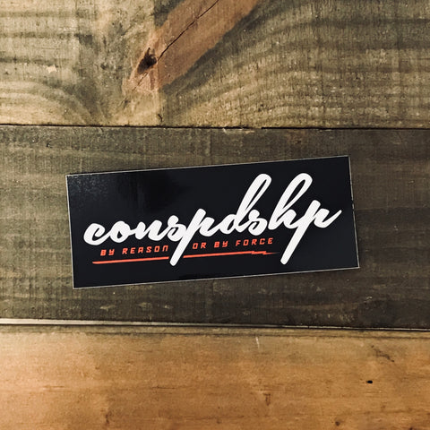 Black conspdshp Sticker