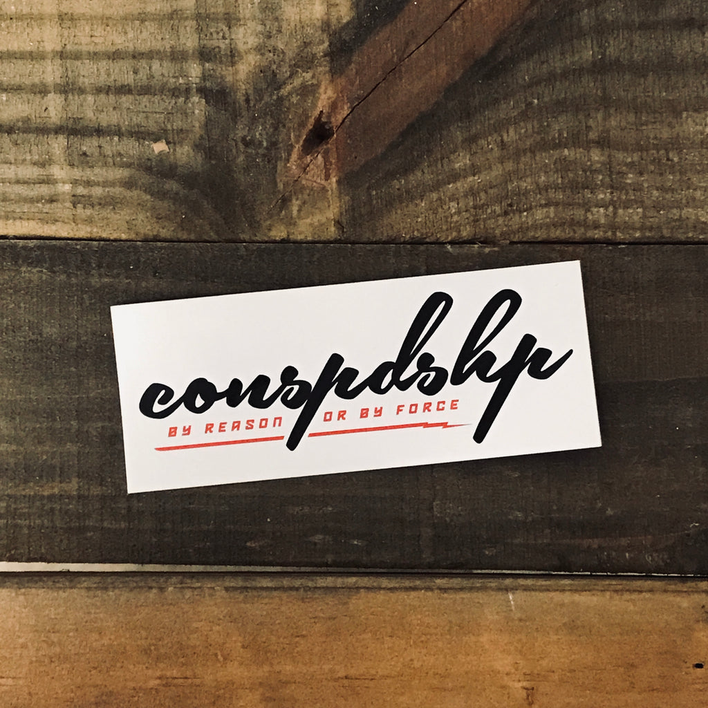 White conspdshp Sticker