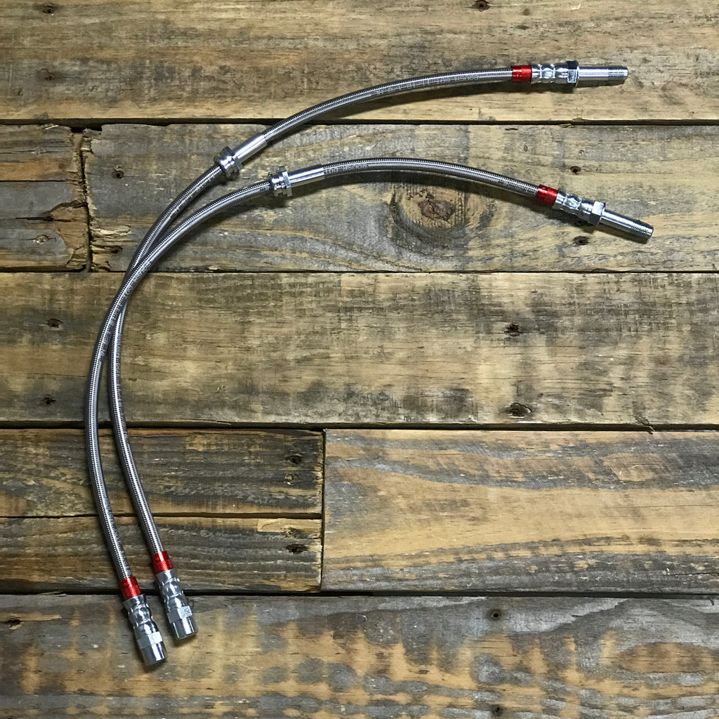 Extended Stainless Steel Brake Lines - E46 Rear