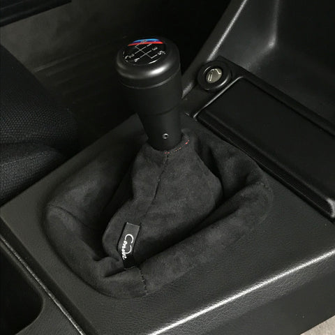 Black Suede Shift Boot