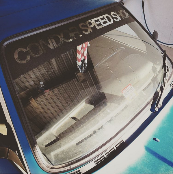 "Condor Speed Shop ""Reverse"" Windshield Banner - E30"