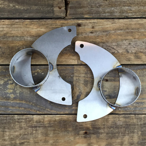 Stainless Steel Brake Cooling Plates - E30