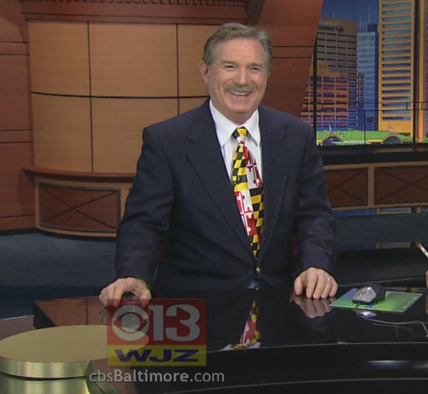 Bob Turk From Wjz 13 Wears Route One Apparel S Maryland Flag Tie