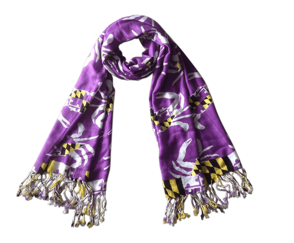 Maryland Crab Pattern (Purple) / Scarf
