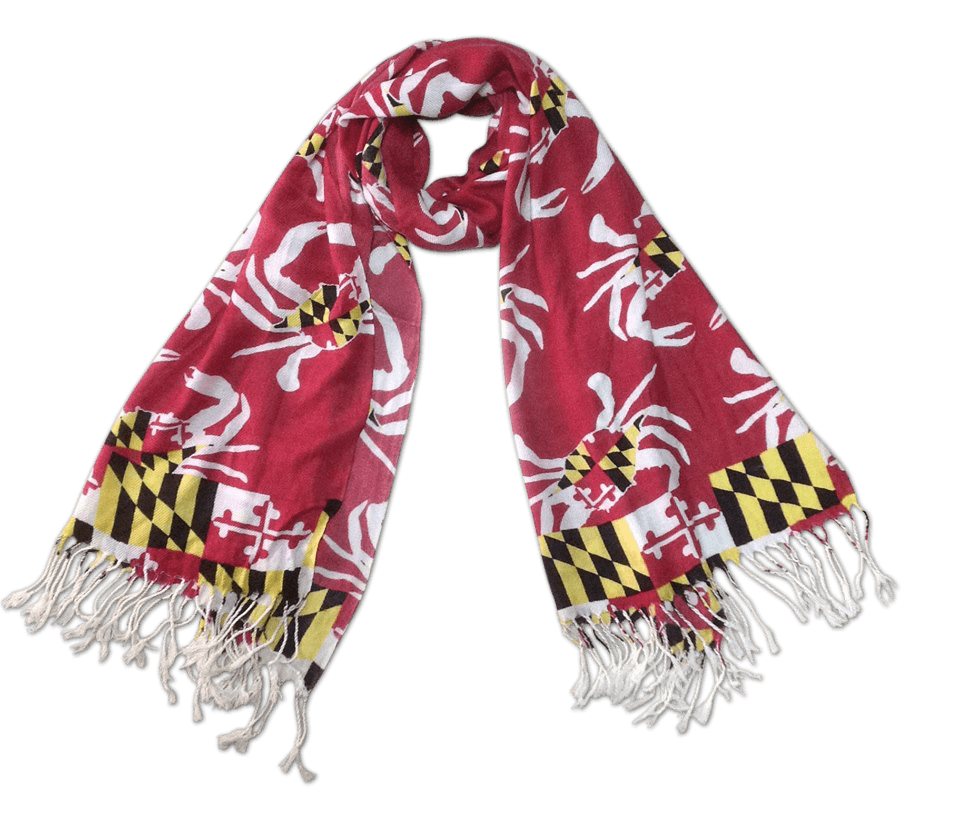 Maryland Crab Pattern (Red) / Scarf