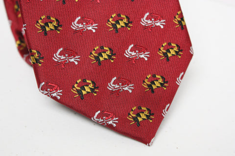 Embroidered Maryland Flag Crab (Red) / Tie