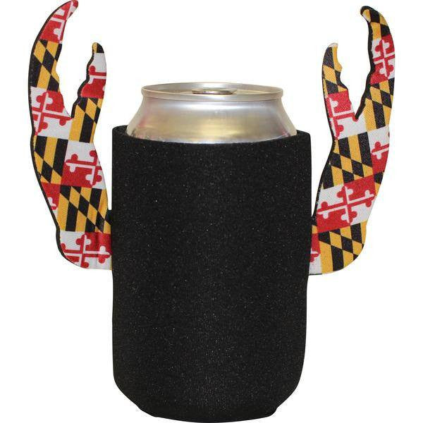 Basic (Black w/ Maryland Claws) / Crab Claw Koozie - Route One Apparel