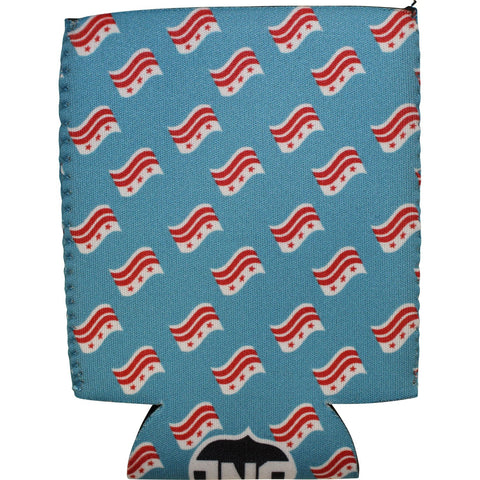 Waving DC Flag Pattern (Sky Blue) / Koozie