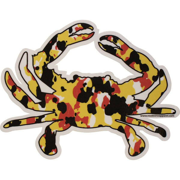 Maryland Colors Crab Larger Spot Camo / Sticker