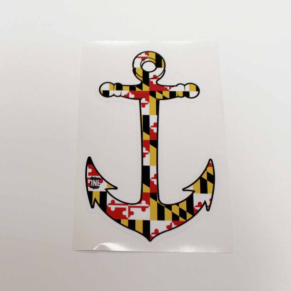 Maryland Flag Anchor / Sticker