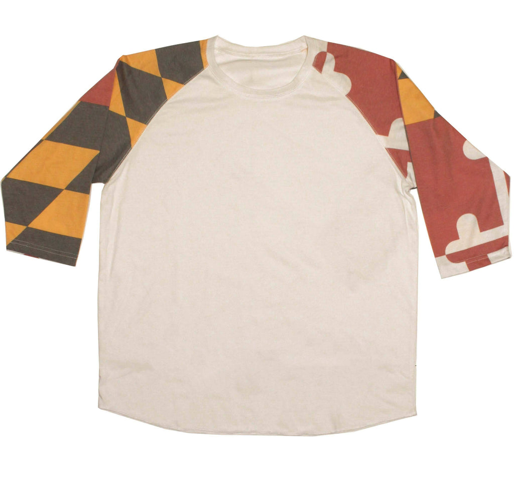 Maryland Flag Sleeves / Baseball Jersey Shirt