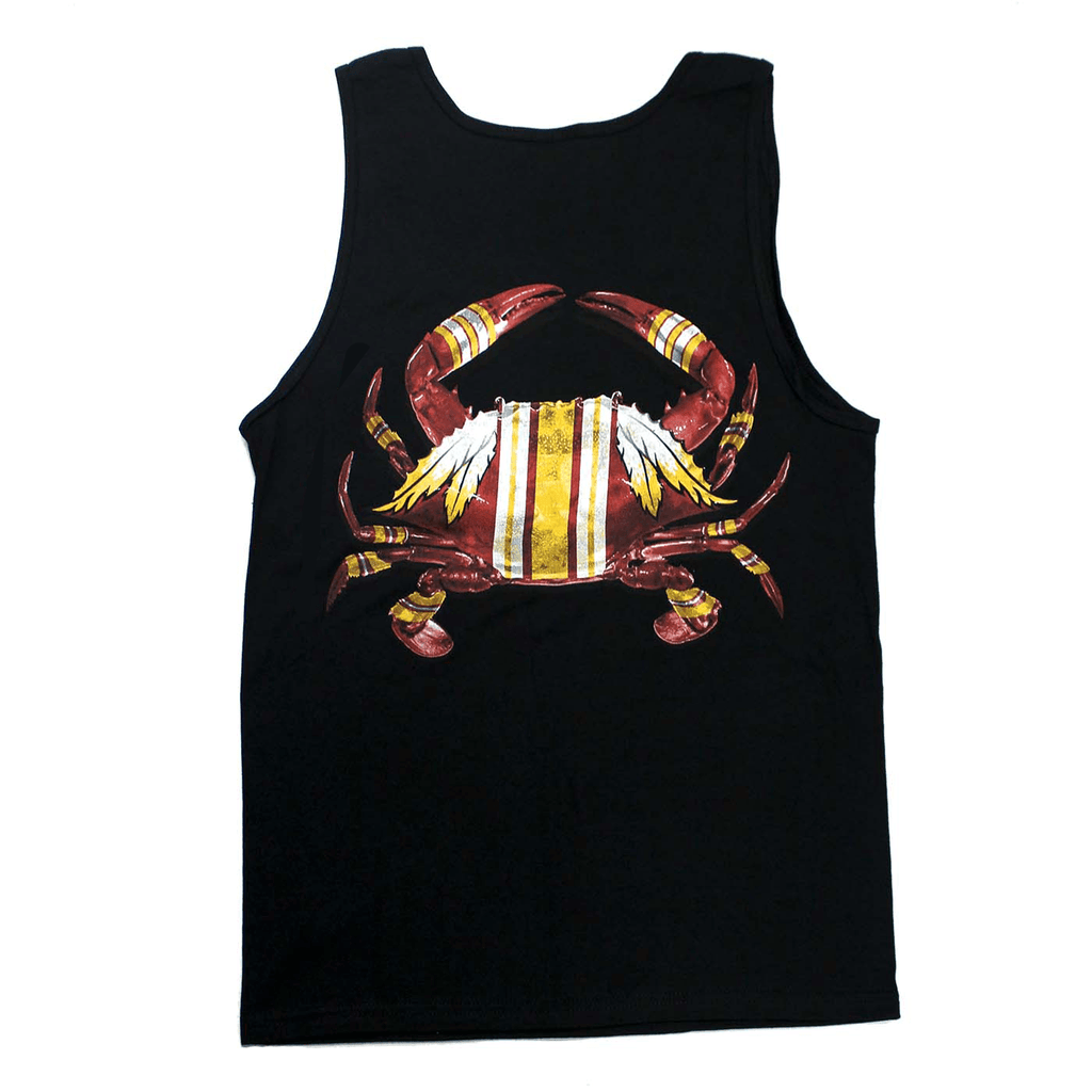 DC Football Home Team Crab *Back Print* (Black) / Tank - Route One Apparel