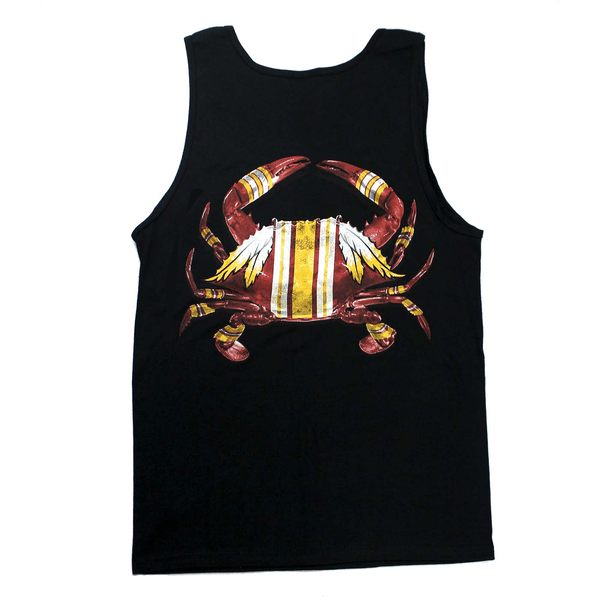 DC Football Home Team Crab *Back Print* (Black) / Tank