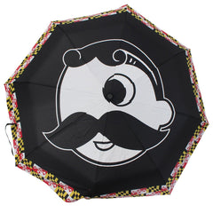 Natty Boh Logo w/ Maryland Flag Outline / Compact Umbrella