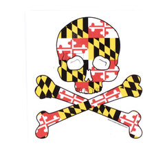 Maryland Flag Skull & Bones / Sticker