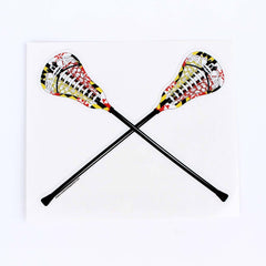 Maryland Flag Lacrosse Stick / Sticker