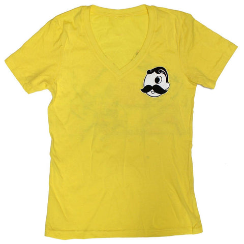 Natty Boh Can Crab (Lemon Zest) / Ladies V-Neck Shirt
