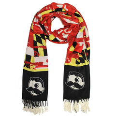 Vintage Maryland and Natty Boh Logo (Black & Red) / Scarf