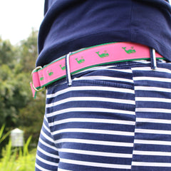 Green Whale on Pink / Belt