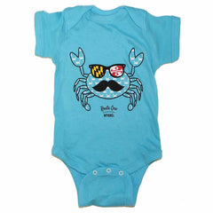 Fun Crab Disguise (Teal) / Baby Onesie