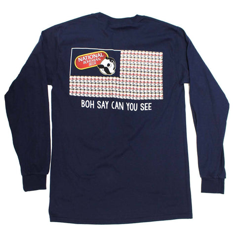 Boh Say Can You See (Navy) / Long Sleeve Shirt