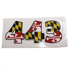 """443"" Maryland Flag / Sticker - Route One Apparel"