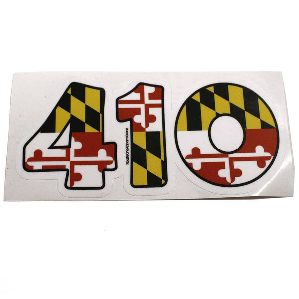 """410"" Maryland Flag / Sticker"