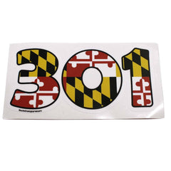 """301"" Maryland Flag / Sticker - Route One Apparel"