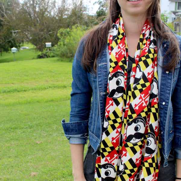 Natty Boh Logo Maryland Flag / Scarf