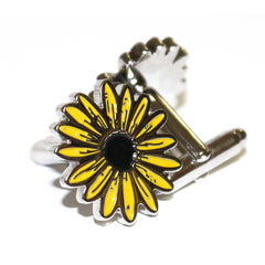 Black Eyed Susan / Enamel Cufflinks - Route One Apparel