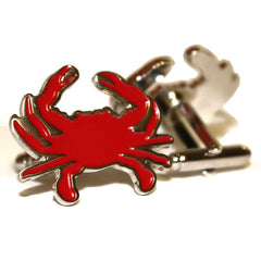 Red Crab / Enamel Cufflinks