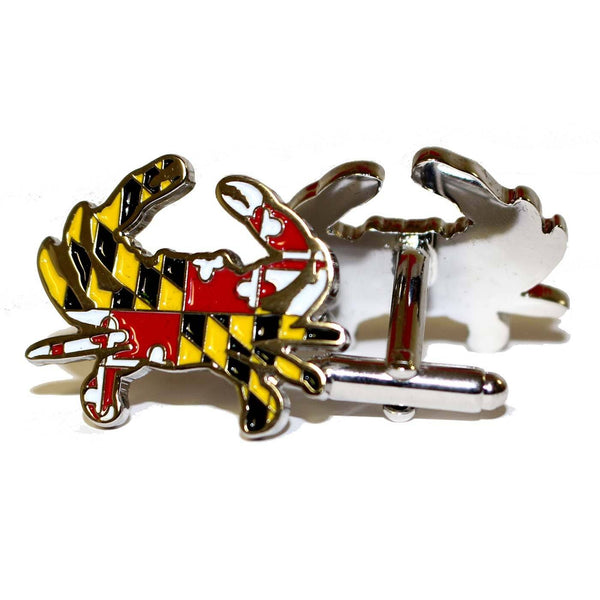 Maryland Full Flag Crab / Enamel Cufflinks