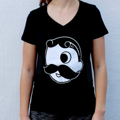 Natty Boh Logo (Black) / Ladies V-Neck Shirt