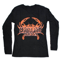Maryland Things (Black) / Ladies Long Sleeve Shirt