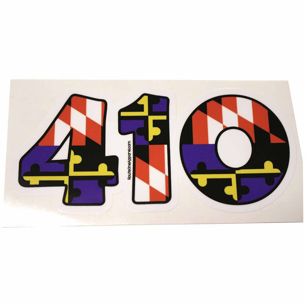 """410"" Baltimore Purple & Orange Maryland Flag / Sticker - Route One Apparel"