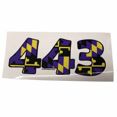"""443"" Baltimore Football Purple & Gold Maryland Flag / Sticker - Route One Apparel"
