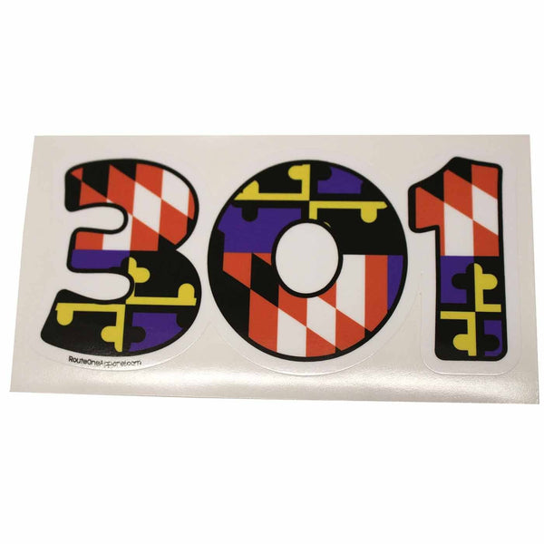 """301"" Baltimore Purple & Orange Maryland Flag / Sticker - Route One Apparel"